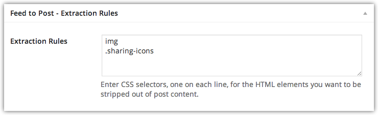 Feed to Post 2.5 Released – Embedded Content and Extraction Rules