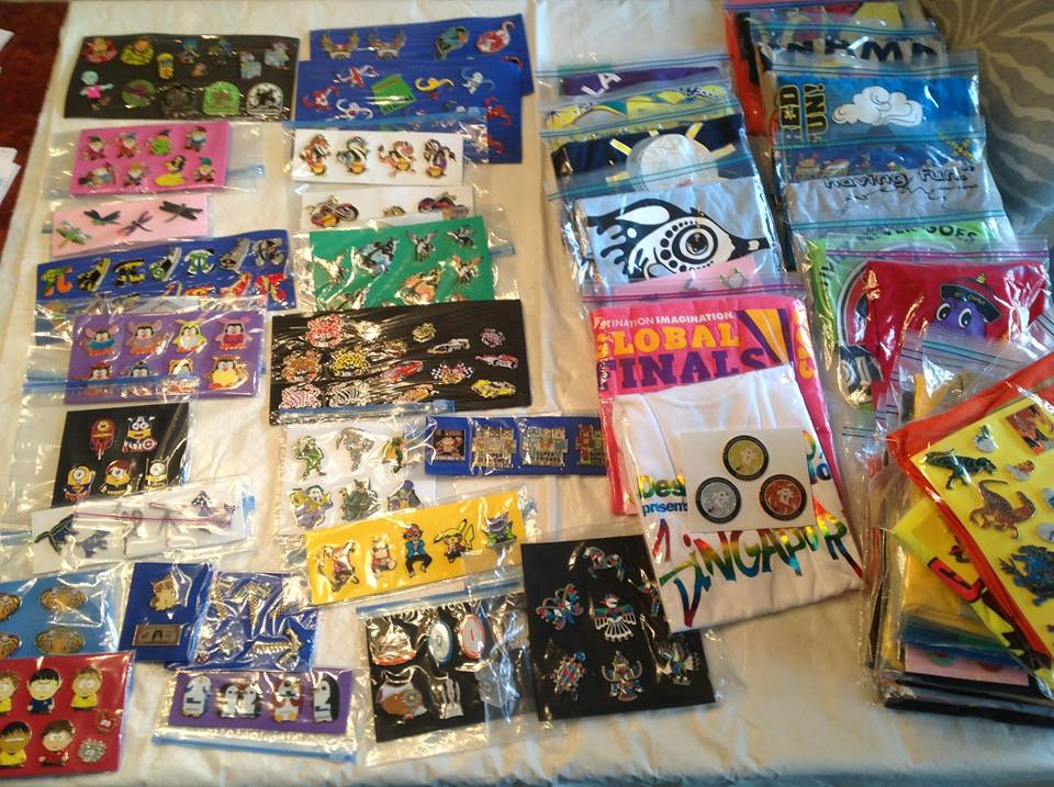 Getting ready for a fabulous pin auction at the Maryland tournament on Saturday….