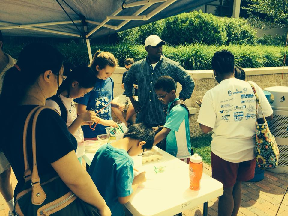 Had a great day at the Howard County STEM Festival. how many golf balls can your…