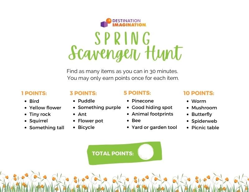 Free Printable Spring Scavenger Hunt