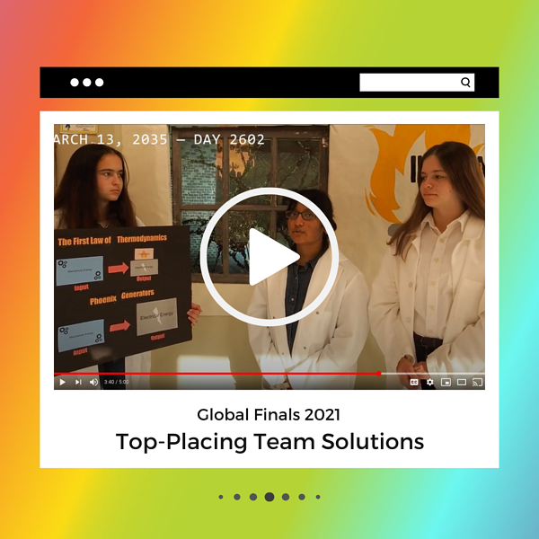 Watch some of our top-placing Global Finals solutions on YouTube